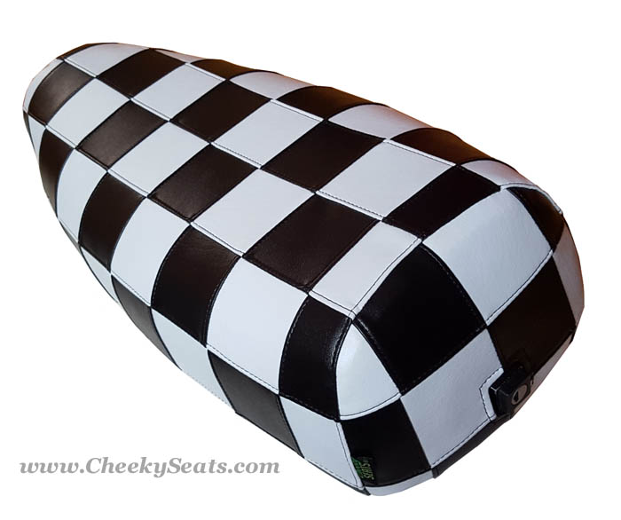 Genuine Stella Checkers SKA Black White Scooter Seat Cover